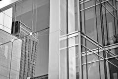 De moderne bureaubouw met voorgevel van glas Rebecca 36 Stock Afbeeldingen
