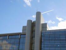 De moderne commerciële bouw royalty-vrije stock afbeelding