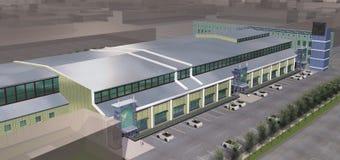 De moderne commerciële bouw vector illustratie