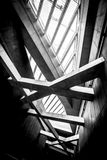 De moderne conceptuele high-tech bouw Stock Afbeeldingen