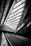 De moderne conceptuele high-tech bouw Stock Foto