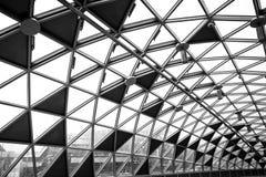 De moderne conceptuele high-tech bouw Stock Afbeelding