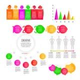De moderne creatieve inzameling van infographicselementen royalty-vrije stock afbeeldingen