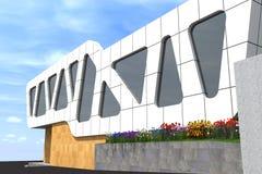 De moderne 3D bouw Royalty-vrije Stock Foto