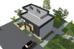 De moderne 3D bouw Royalty-vrije Stock Foto's