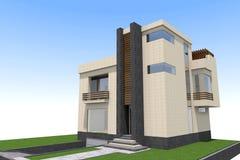 De moderne 3D bouw Stock Foto