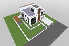De moderne 3D bouw Stock Fotografie