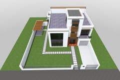 De moderne 3D bouw Royalty-vrije Stock Afbeelding