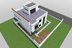 De moderne 3D bouw Stock Afbeeldingen