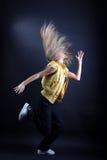 De moderne danser van de vrouw stock foto