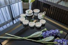 De moderne decoratie van de het ontwerpvilla van het luxe binnenlandse huis Royalty-vrije Stock Foto