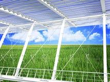 De moderne ecobouw Royalty-vrije Stock Afbeelding