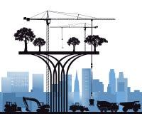 De moderne ecologische bouw Stock Foto's