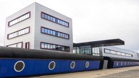De moderne fabrieksbouw Royalty-vrije Stock Afbeeldingen