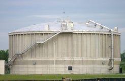 De moderne Faciliteit van de Verwerking van het Afvalwater Stock Afbeeldingen