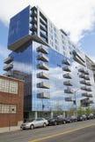 De moderne flatbouw in Williamsburg-buurt van Brooklyn Stock Afbeeldingen