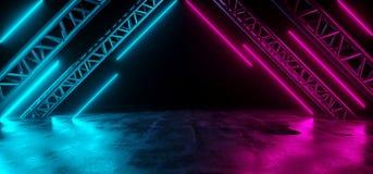 De moderne Futuristische Purpere Blauwe Neonlichten sc.i-FI op Samenvatting bedriegen royalty-vrije illustratie