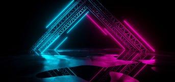 De moderne Futuristische Purpere Blauwe Neonlichten sc.i-FI op Samenvatting bedriegen vector illustratie