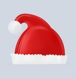 De moderne Geïllustreerdei hoed van de Kerstman Stock Afbeelding