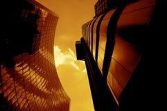 De moderne Gebouwen van de Stad Stock Afbeeldingen