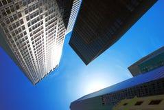 De moderne gebouwen van het bureau stock fotografie
