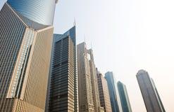 De moderne gebouwen van Shanghai Royalty-vrije Stock Afbeeldingen