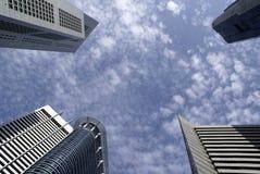 De moderne gebouwen van Singapore Stock Afbeelding