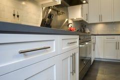 De moderne gepaste keuken van de luxe met roestvrij staal Stock Afbeelding