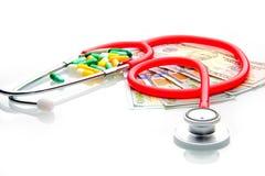 De moderne gezondheid is duur, moet u voor het betalen royalty-vrije stock afbeelding
