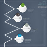 De moderne glanzende infographic elementen van de toespraakbel Stock Afbeelding