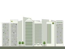De moderne Groene Stad, denkt Groen Concept Stock Afbeelding