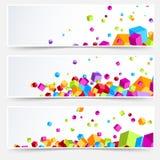 De moderne heldere plastic adreskaartjes van het kubusweb Royalty-vrije Stock Foto