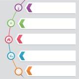 De moderne Hexagon Ronde roteert Malplaatje Diagram het Vectorontwerp Stap van het het Bedrijfs van Infographic Royalty-vrije Stock Afbeeldingen