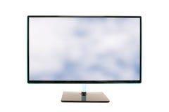 De moderne hoge monitor van de definitiecomputer Stock Foto