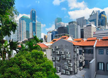 De moderne horizon van Singapore royalty-vrije stock afbeeldingen