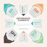 De moderne Illustratie van Infographic van de Origamistijl royalty-vrije illustratie