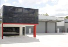 De moderne industriële bouw Stock Afbeelding