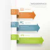 De moderne infographic elementen van de pijlgrafiek