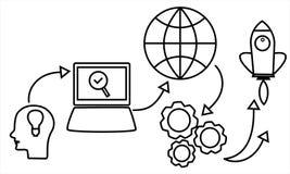 De moderne inzameling van conceptenvectoren Bedrijfsproject startconcept royalty-vrije illustratie