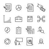 De moderne inzameling van het beheerspictogrammen van de overzichtsstijl Royalty-vrije Stock Foto's
