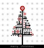 De moderne kaart van de Kerstmisgroet Royalty-vrije Stock Afbeeldingen