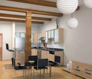 De moderne keuken Royalty-vrije Stock Fotografie