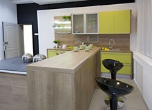 De moderne keukendetails Royalty-vrije Stock Afbeelding