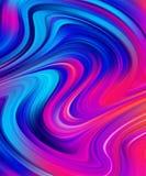 De moderne kleurrijke achtergrond van de stroomaffiche De abstracte golvende Vloeistof van de kleurenverf royalty-vrije illustratie