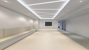 De moderne Lege 3d Zaal, geeft binnenlands ontwerp, spot op illustrati terug stock illustratie