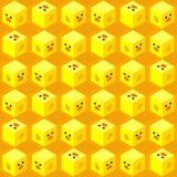 De moderne leuke isometrische naadloze kubussen van het eendgezicht royalty-vrije stock foto's