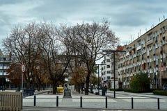 De moderne mening van Nice van het vierkant van Nowy Targ in de oude stad van Wroclaw Stock Foto's