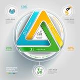 De moderne oneindige zaken van het driehoeks 3d diagram. Stock Afbeelding