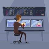 De moderne Online Illustratie van de Handeltechnologie royalty-vrije illustratie