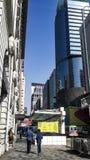 De moderne ontwerp levensstijl van de de bouwtoren in Hongkong Royalty-vrije Stock Foto
